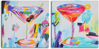 martini painting my art outlet confetti cocktails u0027 2 piece painting on wrapped