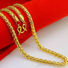 2015 men s jewelry 8mm 60cm new arrival valuable 24k gold necklace mens discount men s 60cm 6mm crude