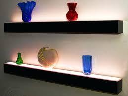 shelf with lights underneath floating shelves with lights underneath fooru me