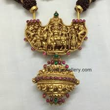 antique necklace pendants images Antique gold pendant jewellery designs jpg