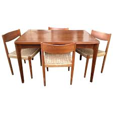 woven dining room chairs gorgeous danish modern extendable teak dining table with woven