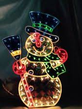 Light Up Snowman Outdoor Holographic Christmas Ebay