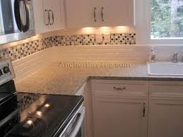 tile backsplash pictures for kitchen cherry kitchen cabinets with gray wall and quartz countertops