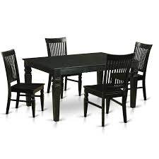 amazon com east west furniture west5 blk w 5 piece dining table