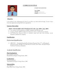 Sample Curriculum Vitae Format For Students Formatting A Resume Resume Badak