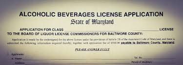 buying a liquor license in maryland maryland alcoholic beverage law