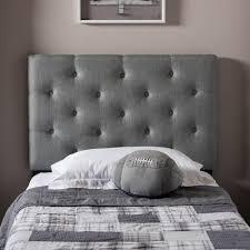 Grey Upholstered Headboard Baxton Studio Viviana Gray Queen Headboard 28862 6459 Hd The