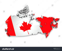 Canada On A Map 3d Map Canada On Simple Background Stock Illustration 228831415