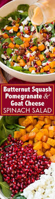 cuisiner les butternuts butternut squash pomegranate and goat cheese spinach salad with