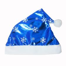 blue santa hat christmas party santa hat blue cap for santa claus costume new