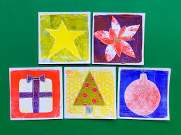 create a card printing with gelli arts create seasons greetings cards with the