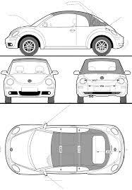 volkswagen beetle sketch grabcad