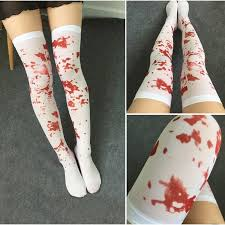 2017 the knee socks blood stained bloody