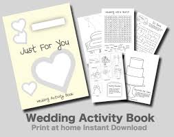 kids wedding activity book yellow cover print at home pdf