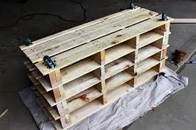 How To Build A Shoe Rack Bench Awesome Shoe Storage Bench Made From Pallets