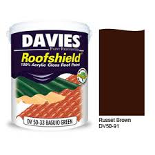 davies roofshield russet brown dv50 91 4l tacloban ultrasteel
