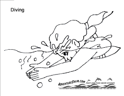 swimming coloring pages eson me