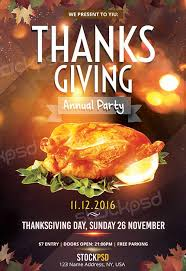 thanksgiving annual free flyer template http