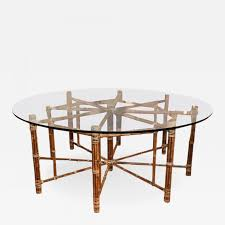 mcguire octagon bamboo dining table with round top