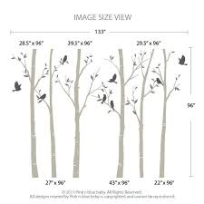 the birch tree forest with birds wall decal pinknbluebaby