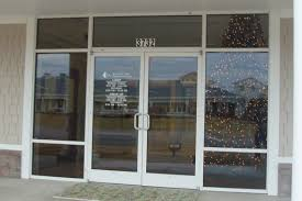 Office Door Design Exterior Wood Entry Doors With Glass And Painted With White Color