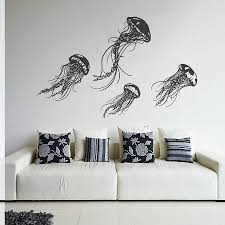 wall decoration jellyfish wall decal lovely home decoration and jellyfish wall decal home decoration planner awesome
