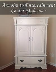 Entertainment Center Armoire Hand Me Down Armoire To Entertainment Center Painted Furniture
