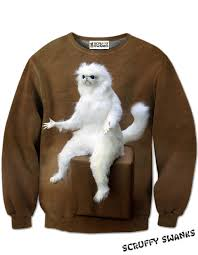 cat sweater cat all print sweater scruffy swanks