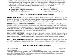 Sample District Manager Resume District Manager Resume Resume Ideas