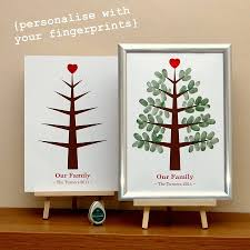 personalised christmas fingerprint tree grandparents craft and