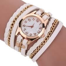 wrap around woven chain link wrap around bracelet wrist oasap