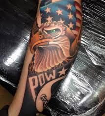 95 bald eagle with american flag tattoos u0026 designs with meanings