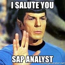 Sap Memes - i salute you sap analyst spock meme generator