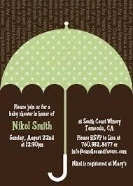sprinkle umbrella green baby shower invitations