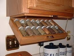 Kitchen Storage IdeaUnder Cabinet Spice Rack - Kitchen cabinet spice storage