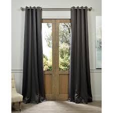 Grommet Top Blackout Curtains Exclusive Fabrics Charcoal Grommet Top Blackout Curtain Panel Pair