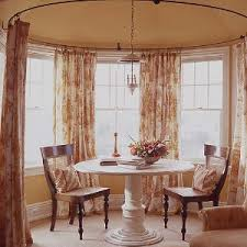 How To Put Curtains On Bay Windows Circular Bay Window Curtain Maybe For A Turret In A Victorian