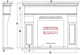 Standard Fireplace Dimensions by Milford Classic Stone Fireplace Mantel Mantelsdirect Com