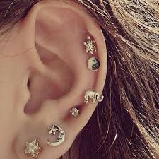second ear piercing earrings health benefits of different types of piercing