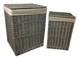 wicker laundry hampers small antique wash square laundry basket amazon co uk garden