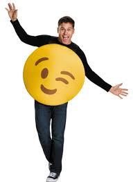 emoji costume unisex emoticon wink costume costumes