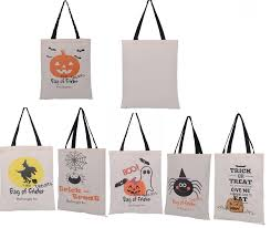 christmas shopping bags 50pcs 6 types tote bags with black handle pumpkin