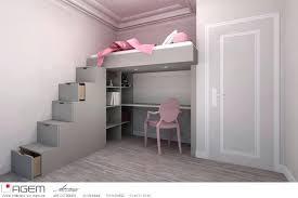 chambre fille avec lit superposé chambre fille lit superpose image lit mezzanine mee temps