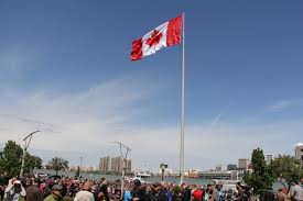 photos the great canadian flag raising ceremony windsoritedotca
