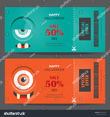 halloween web template halloween gift voucher certificate coupon mo stock vector