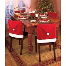 Red Dining Room Chair Covers by Amazon Com Oliasports Soft Comfort Santa Hat Dining Chair Covers