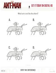 marvel ant man coloring pages printable marvel ant man spot the difference coloring page disney