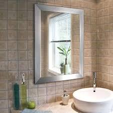 framed bathroom mirrors brushed nickel brushed nickel framed bathroom mirror modern brush nickel bathroom