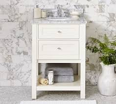 single sink console vanity classic single sink mini console white pottery barn