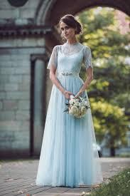 brautkleider accessoires brautkleider in blau für einen originellen und zarten look